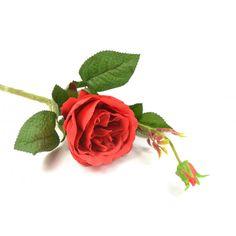Umelá ruža - červená (výška 44 cm)