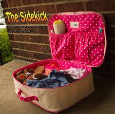The Sidekick Mini Suitcase pattern. So sweet! Would be adorable for trips to grandmas or for Barbies and accessories!
