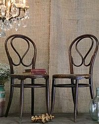Pair Thonet Cafe Chairs-antique, chairs, kitchen, bedroom, chair, armchair, French,furniture