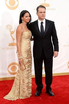 Matt Damon and Luciana Barroso | Who Wore What To The 2013 Emmy Awards?