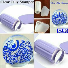 bornprettystore.com Clear Jelly Stamper $2.99 All clear&Purple #New #stampers #stampnails #stampart