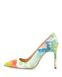 Manolo Blahnik BB Floral Watercolor Pump. Inspiration for the future.