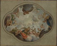 ceiling mural by Jacob de Wit ~ Allegory of the Arts