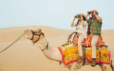 Exploring the Thar desert by camel, India