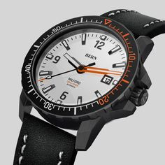 Coming Soon to kickstarter, register your interest today at bernwatch.com   42mm Black pvd Case, Miyota 8215 automatic movement, 300m/1000ft Dive depth, unidirectional clicking bezel with Swiss X1-Grade GL-C3 Superluminova. Anti Reflective coated Sapphire Crystal. One of the most eagerly awaited dive watch launches of 2019 Brushed Stainless Steel, Bern, Watch Brands, Smart Watch, Watches For Men, Product Launch, Sapphire, Crystal, Black