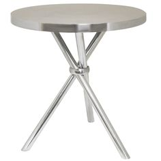 Smith Oval Aluminum Accent Table