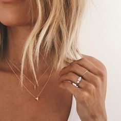 you can and you will pyramid necklace, gold dipped