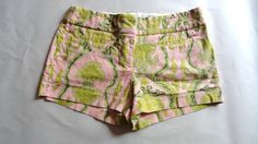 J.crew Pattern Print Summer Casual Shorts Cotton Victorian Pink Green 2 Small S #Jcrew #CasualShorts