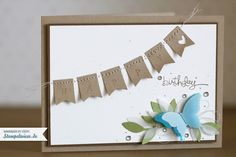A Word for You, Simply Serif Mini Alphabet, Little Leaves Sizzlits Die, Banner Punch, Elegant Butterfly Punch, Stampin' Up
