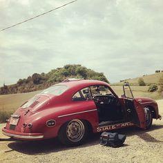 Porsche 356 Mille Miglia pit stop