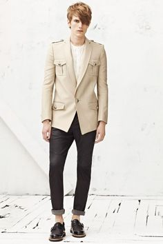 Balmain Homme 2013. Really feelin' this blazer.