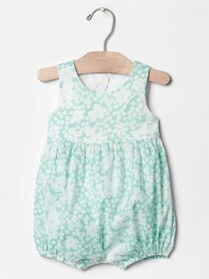 Floral tulip-back one-piece, the back is adorable! 6-12mo