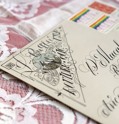Artistic Return Address Tutorial | The Postman's Knock :: In this tutorial, you'll learn how to make a beautiful, artistic return address in the upper left corner of any envelope!