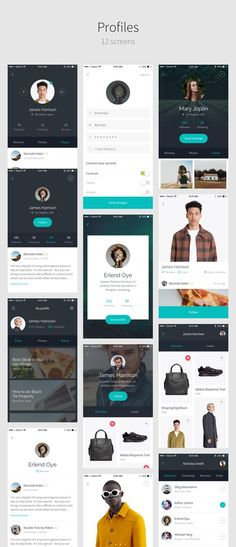 This is our daily android app design inspiration article for our loyal readers.Every day we are showcasing a android app design whether live on app stores or only designed as concept. Android App Design, Ios App Design, Iphone App Design, Graphisches Design, Mobile Ui Design, Android Mockup, Android Ui, Profile App, Iphone App Layout