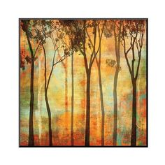 Art.com ($81) ❤ liked on Polyvore featuring home, home decor, wall art, orange, forest wall art, contemporary home decor, wooden wall art, contemporary wall art and wooden home decor