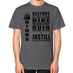 Jar jar binks code Unisex T-Shirt (on man)