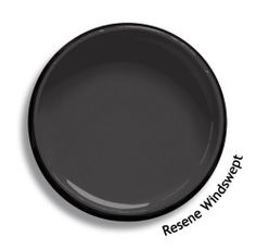Resene Half Fuscous Grey is a warm smoke grey, dense and smartly formal. Exterior House Colors, Exterior Paint, Interior Paint Colors, Paint Colours, Home Reno, Dark House, Color Swatches, Wall Treatments, Houses