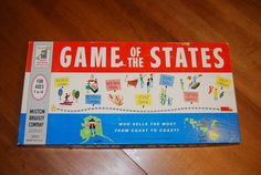 Vintage Board Game Game of the States by VintageandFlair on Etsy, $22.00