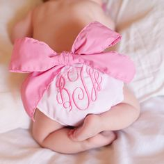 Baby Bow Bottom Bloomers. So cute for a girl!
