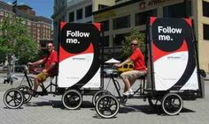 eco-friendly ads alternative to mobile billboards that can reach high-profile streetlevel environments where many other forms of ads are often prohibited. Also popular in All areas.Maximum exposure to surrounding pedestrians.Unique and street-level, these attention-grabbing ad bikes are personal an approachable, with options for the drivers to hand out advertising collateral, promotional giveaways,& interact directly with consumers to your campaign. Call max on 0422 713 272