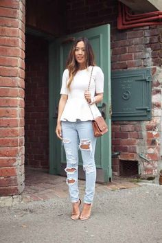 casual peplum outfit