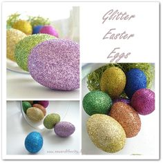 Glitter Easter Eggs. They are so easy to do and a must for this Easter season!