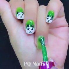 Girls Nail Designs, Cute Easy Nail Designs, Nail Art Designs Videos, Best Nail Art Designs, Nail Art Hacks, Nail Art Diy, Cool Nail Art, New Nail Art Design, Nail Design Video