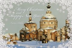 Hand painted porcelain: Merry Christmas to everyone!