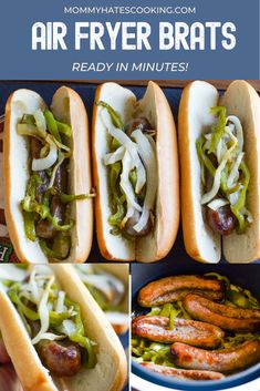 Make the best Air Fryer Brats in minutes, use any variety or flavor to make these tasty Air Fryer Brats! AD