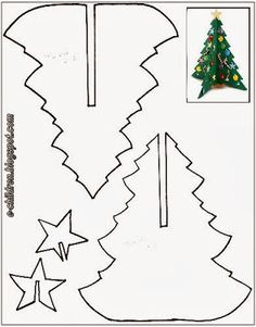 tree templates for kids ; tree templates for kids free printable Christmas Wood, Christmas Crafts For Kids, Christmas Colors, Christmas Projects, Holiday Crafts, Christmas Holidays, Christmas Decorations, Christmas Ornaments, Christmas Trees