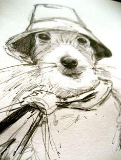 Dog Art, Dog Breed, Jack Russell Pen & Ink facebook.com/michellecampbellart