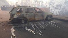 Tennessee forest fires melt aluminum car and truck wheels. Gatlinburg Fire, Smoky Mountain Resorts, Smokey Mountain, Tennessee Fire, People's Liberation Army, Aluminum Rims, Aluminum Wheels, Proposal Photography, Truck Wheels