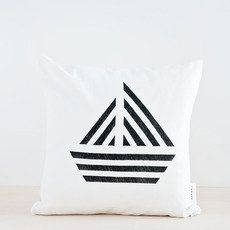 Geometric boat pillow cover available on great.ly by the HinesSightBlog Collection.