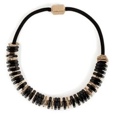 Marc by Marc Jacobs Bolt Slice Necklace in Black — www.VeryFirstTo.com
