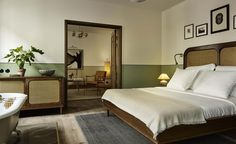 Hotel Sanders, freshly coated in signature Copenhagen green, is the city's very first luxury boutique hotel. Hotel Sanders is the latest manifestation of . Home, Bedroom Inspirations, Home Bedroom, Bedroom Interior, Bedroom Design, Copenhagen Hotel, Interior Design, House Interior, Hotels Room