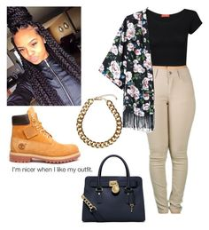 """""""Untitled #594"""" by lovelylifebishh ❤ liked on Polyvore featuring Influence, MICHAEL Michael Kors and Club Manhattan"""