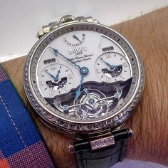 Impressive Bovet watch with triple timezone display and a mesmerizing…