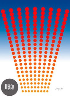 Cartell de la Mercè 2006. Disseny de Vicente Rojo