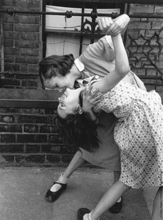 """hauntedbystorytelling: """" Thurston Hopkins :: Two young girls dancing together in the street, East End, London, 1954 more [+] by this photographer """""""