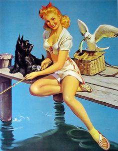 "1944 Fishing ""Catch on"""
