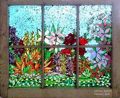Mosaic Bits - Garden Window by Nancy Heiser