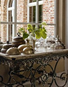 Gypsy Purple home. — crushculdesac: via Beadboard UpCountry French Decor, French Country Decorating, French Bakery Decor, Bakers Table, Home Decoracion, Purple Home, French Country House, French Furniture, Iron Furniture