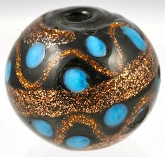 Rare Venetian bead, perfect condition #6475 Size: 14 x 16mm Date: Mid to late 1800s - Price: $60.00