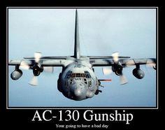 USAF AC 130 gunship