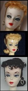 Vintage Barbie Ponytail Dolls were issued from 1959 to 1966. Her design evolved over the years and there are 7 different variations. These are known by their numbers - #1, #2, #3, etc.