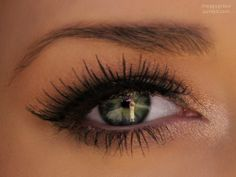 Natural makeup look. To bring out the sparkles in your eyes, visit Beauty.com