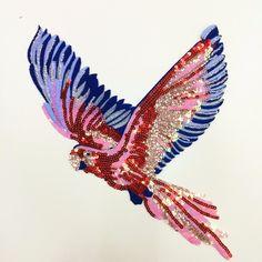 Günstige Adler pailletten vogel applique patches vintage bestickt patch mode Diy kleidung dekoration patch nähzubehör, Kaufe Qualität   direkt vom China-Lieferanten:  größe (Ca. ox ):22,5 cm * 33,1 cm   farbe: als bild gezeigt   diese auflistung ist für 2 stücke . mehr auf lager   ----