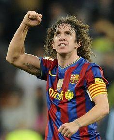 Carles Puyol, Captain of FC Barcelona Club Football, Spain Football, Legends Football, Best Football Players, Good Soccer Players, Chelsea Football, Football Soccer, Barcelona Fc, Barcelona Players