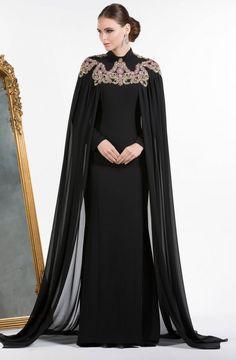 Dubai Kaftan Dress Royal Blue Muslim Evening Dresses Long Sleeves Abendkleider 2017 Mermaid Long Party Dress With Cape Abaya Fashion, Muslim Fashion, Modest Fashion, Fashion Dresses, Hijab Evening Dress, Evening Dresses, Formal Dresses, Elegant Dresses, Mode Abaya