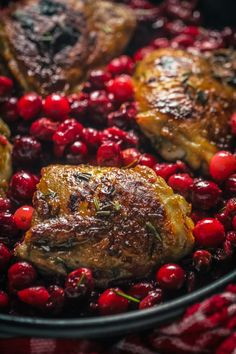 Cranberry Roasted Chicken - Easy one pan dinner recipe
